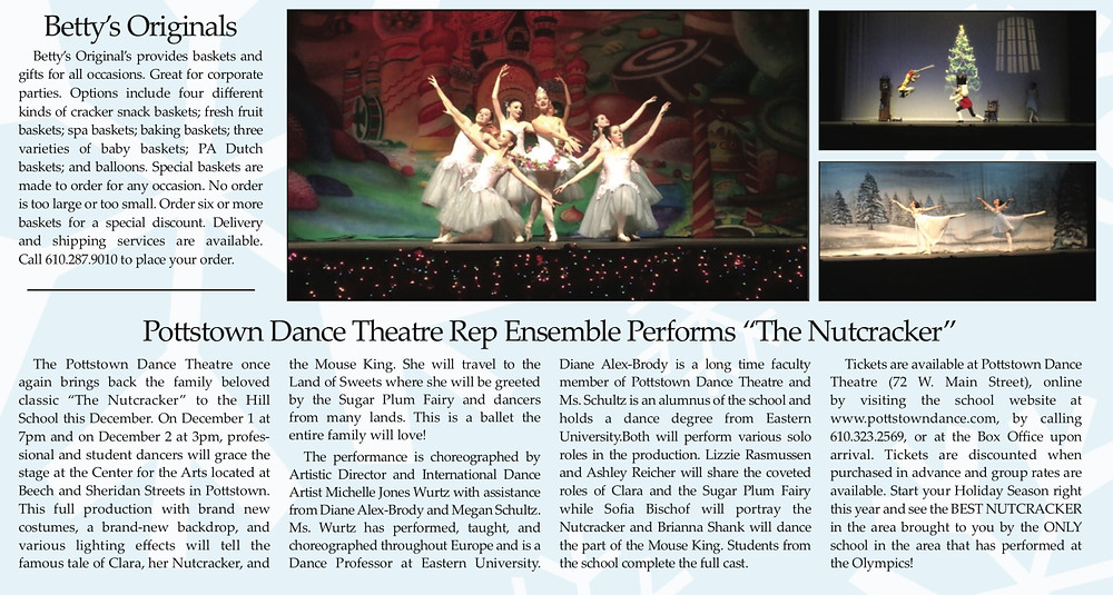 "Route 422 Holiday Gift Guide Features PDTRE 2018 Production of ""The Nutcracker"""