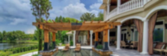 Outdoor decks, patios, & pergolas make for a relaxing setting