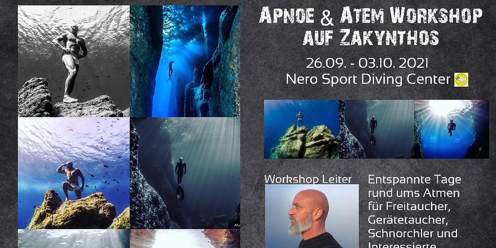 Apnoe & Atem Workshop auf Zakynthos