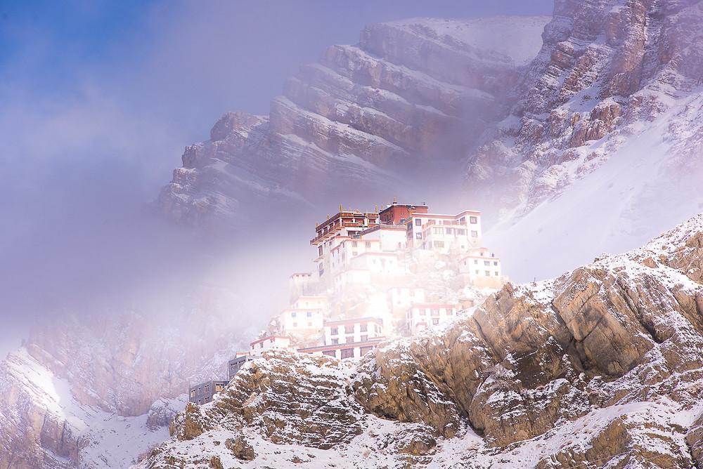 Kee Monastery,Winter view