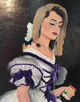 21st Century Countess, Acrylic on Wood Panel, 2018