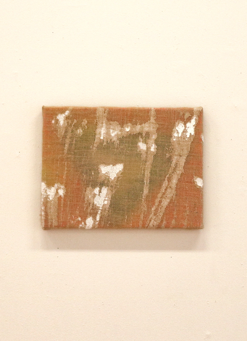 Love, Ottokaji, 30.5x41 (cm), Acrylic and oil on hessian, 2018 @Groenzaal