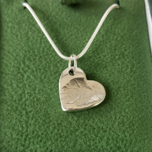 Fingerprint Medium Heart Necklace