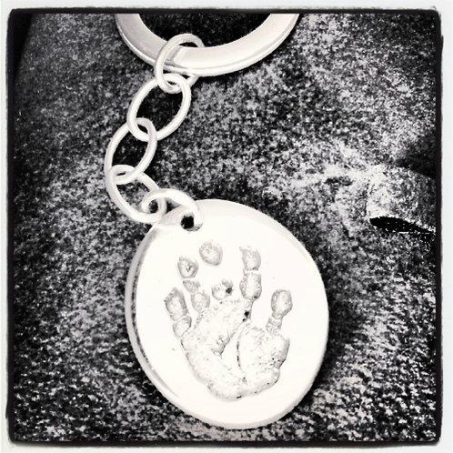 Handprint Footprint Keyrings