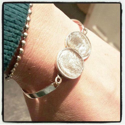 Fingerprint Double Coin Bracelet