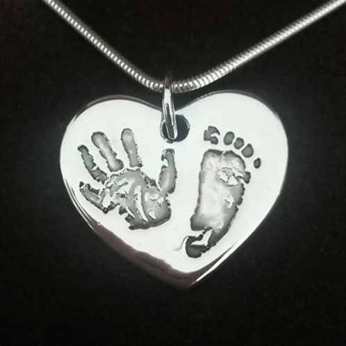 Footprint & Handprint Necklace