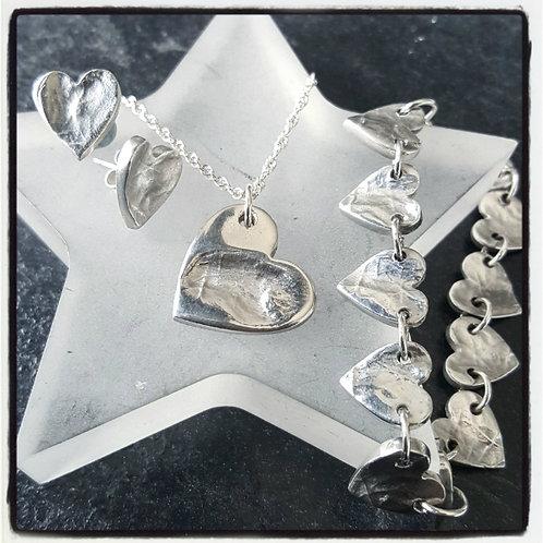 Fingerprint Jewellery Set