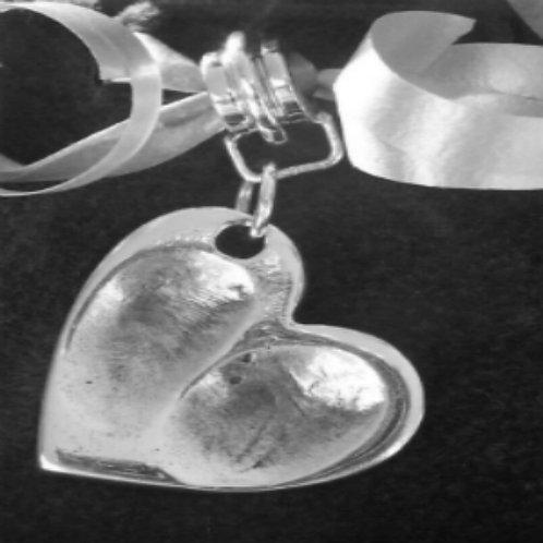 Large Fingerprint Heart Charm