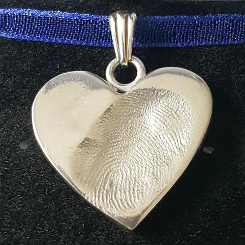 Medium Fingerprint Heart Charm