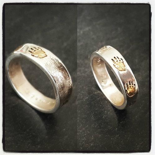 Handprint & Fingerprint Ring