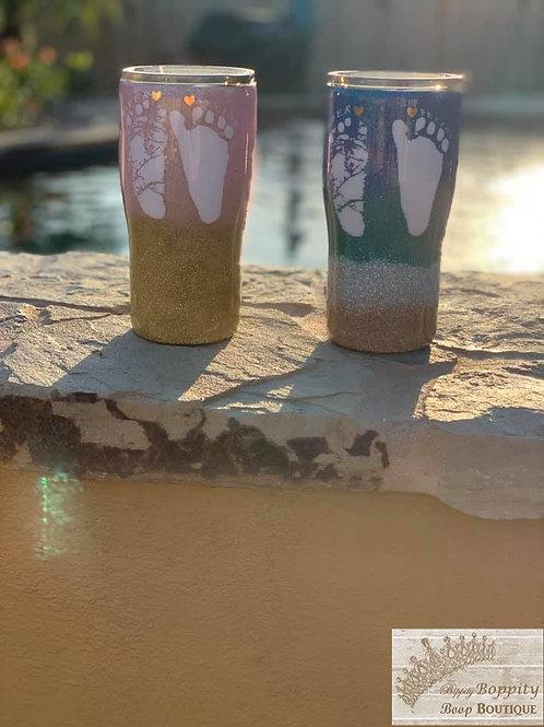 Glitter Footprints
