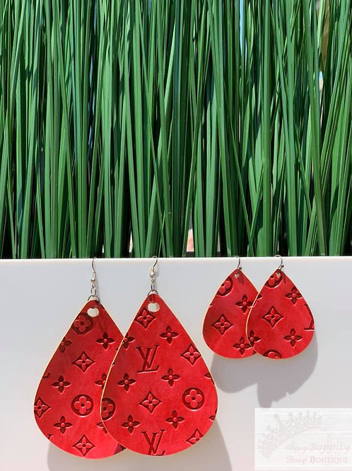 Large and Small Red LV Inspired