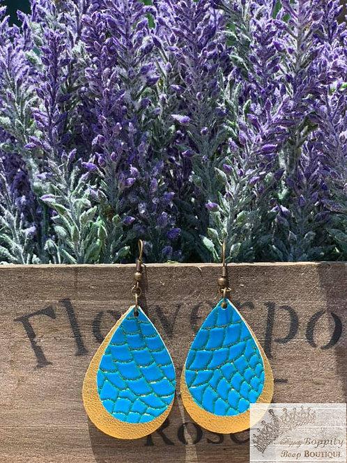 Double Layer Turquoise/Gold Metallic