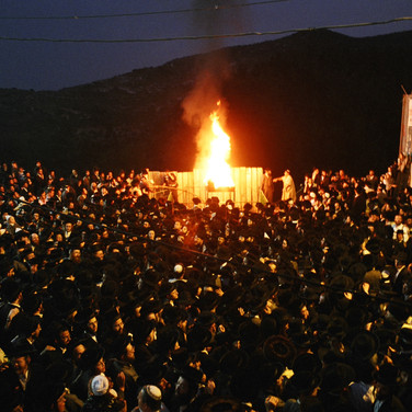 Meron on Lag BaOmer from the air