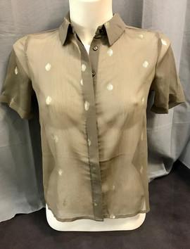 Chemise manches courtes transparente - 39€