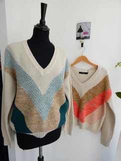 Pulls grosse maille coton - 39€