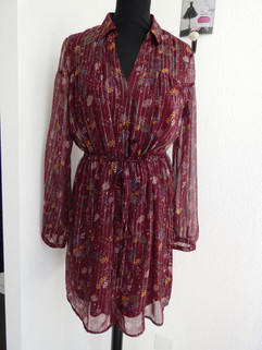 Robe voile bordeaux - 49€