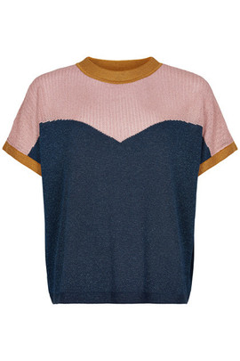 T-shirt maille forme sweat manches courtes - 54