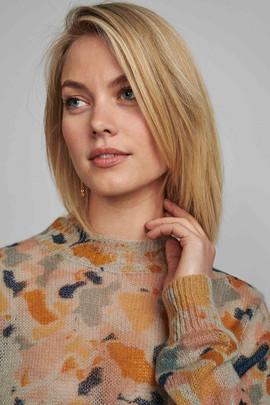 Pull multicolore laine et acrylique - 84€