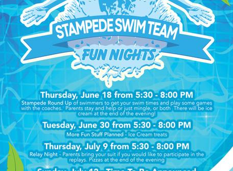 Stampede Swim Team Fun Nights!