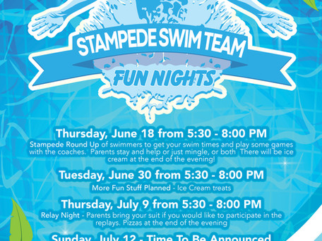 Stampede Swim Team Fun Nights!