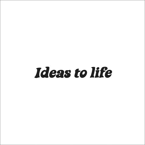 'Ideas to life ' tote bag