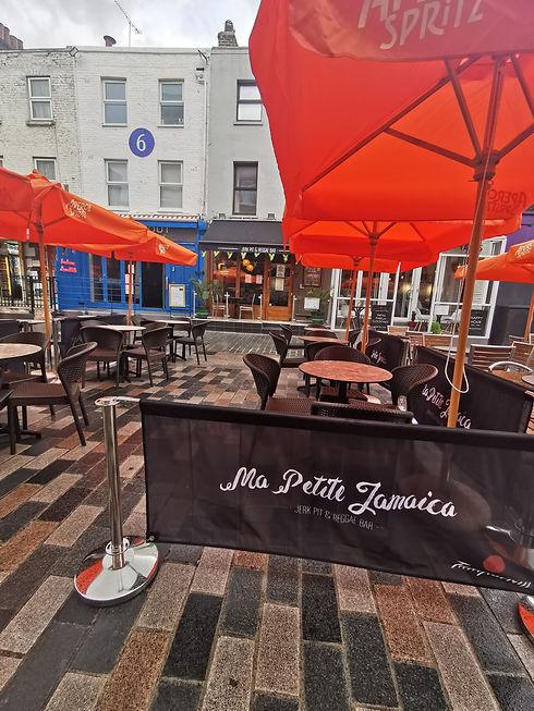 Outdoor terrace London Ma Petite Jamaica