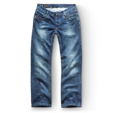 Modefotografie Jeanshose blau Legeware