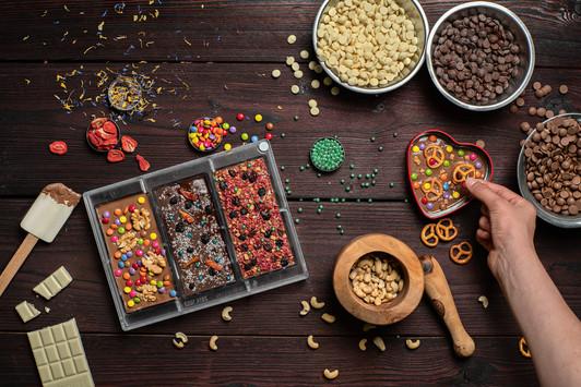 Food-Fotografie Schokolade Herstellung
