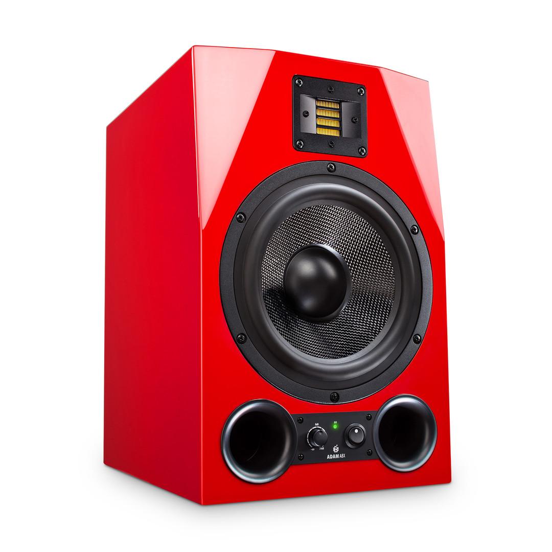 Packshot roter Lautsprecher