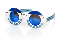 Schmuckfoto Brille blau