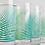 Thumbnail: 2 Set-Green Fern Glasses by Mary Elizabeth Arts