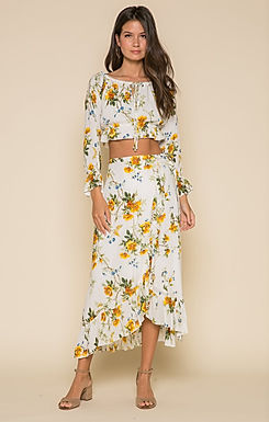 Buttercup Fields Wrap Maxi Skirt