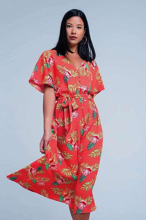 Mai Thai Midi Wrap Dress