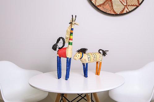 Primary Colors Raffia Giraffe