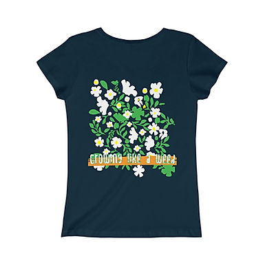Growing Like A Weed by A. Talese - Girls Cotton Graphic Tee