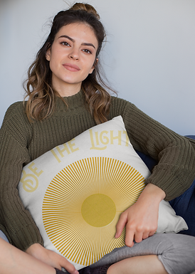 The Light - Throw Pillow Case