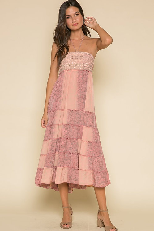 Rustic Romance Halter Dress