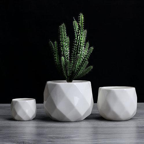 Geometric Porcelain Plant Pots