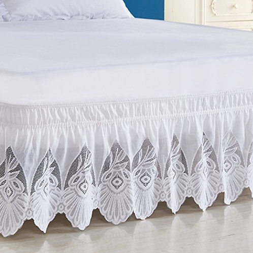 Art Deco Lace Bed Skirt