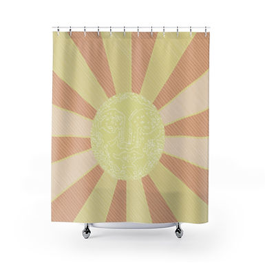 Glowing Up by A. Talese - Shower Curtain