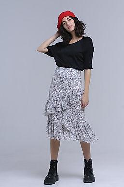 But a Dream Midi Ruffle Skirt
