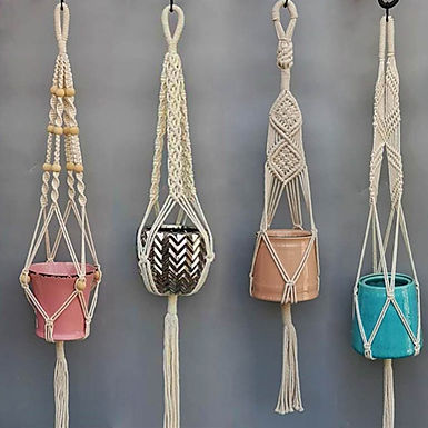 Honey Dew Handmade Macrame Plant Hangers