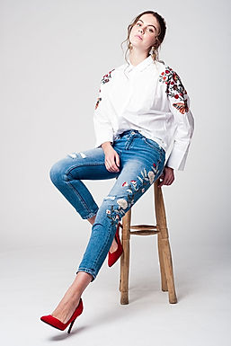 Moira's Garden Embroidered Jeans