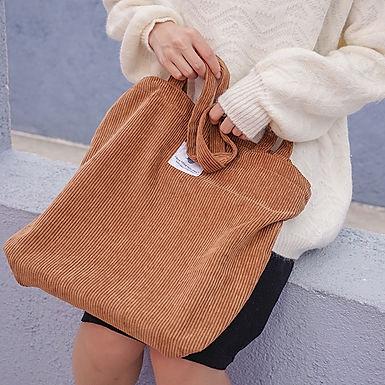 Corduroy Market Bag -Eco-Friendly & Reusable