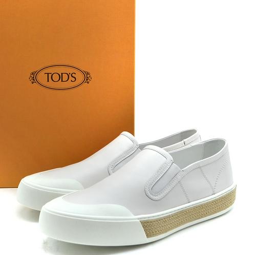 Classic White Preppy Slides- Tod's