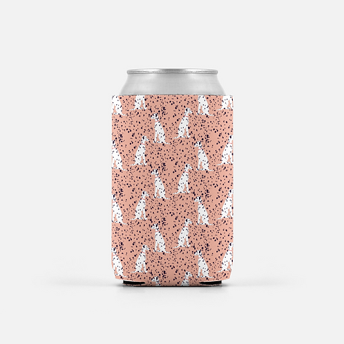 Set of 2 - Pink Dalmatian Can Coolers