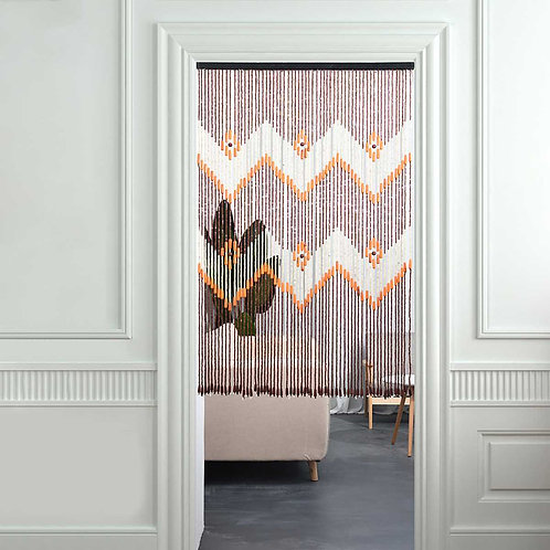 Gypsy Soul Wooden Beaded Door Curtain