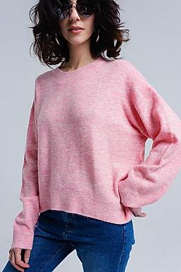 Varsity Hues Oversized Sweater