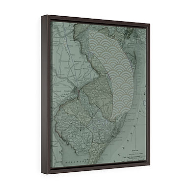 Jersey Shore by A. Talese - Framed Gallery Wrap  Print on Canvas